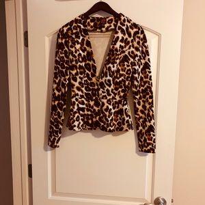 2B Bebe Animal Print Jacket